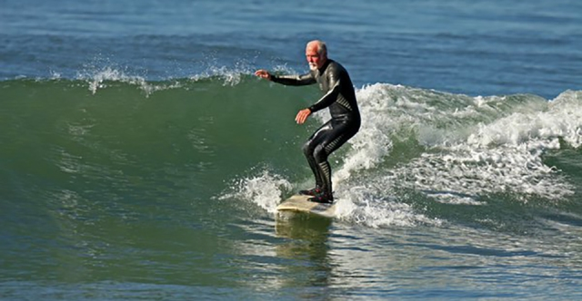 older surfer